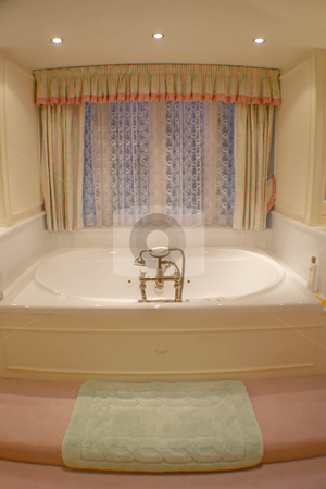 The Bath stock photo, A photo of a bath tub in a bathroom. by Lucy Clark