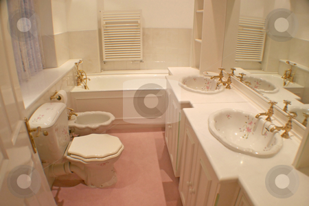 Bathroom stock photo, A classic bathroom in a old house. by Lucy Clark