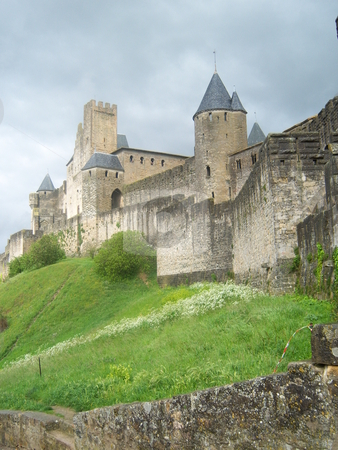 Carcassonne stock photo, The medieval village of Carcassonne in France. by Plichard Micka?