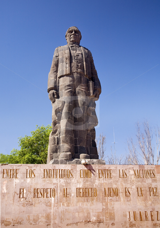 Juarez Statue Hill of Bells Queretaro Mexico stock photo, Large Statue Benito Juarez Hill of Bells, Queretaro Mexico erected in 1967 by William Perry