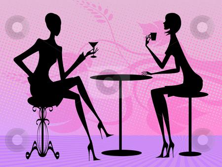 Conversation stock photo, Two women are talking by Minka Ruskova-Stefanova
