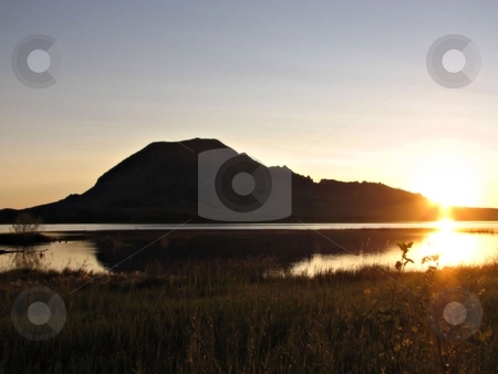 Sunrise Over Bear Butte Lake stock photo, THis Picture Was Taken Between Newell And Sturgis South Dakota And Was Shot From Across Bear Butte Lake! by Brian Meyer
