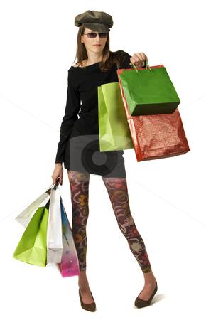 Shopping mania stock photo, Happy girl whit shopping bags by Desislava Draganova