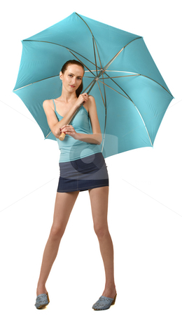 Rain stock photo, Blue style by Desislava Draganova
