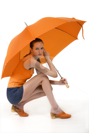 Rain stock photo, Orange style by Desislava Draganova