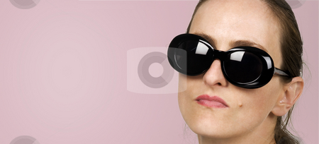 Dark Glasses stock photo, Dark glasses fashion style vogue by Desislava Draganova