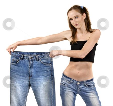 Slim stock photo, Weight loss measuring by Desislava Draganova