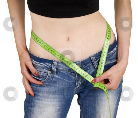Slim stock photo, Weight loss measuring by Desislava Draganova