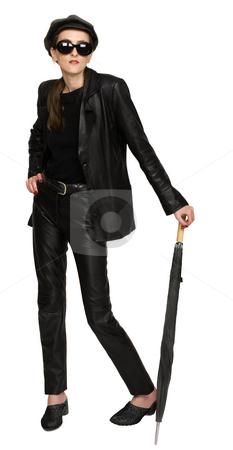 Leather Fashion stock photo, Leather fashion black and white by Desislava Draganova