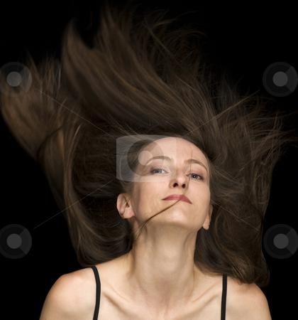 Fly Hair stock photo, Fly hair fashion hair style by Desislava Draganova