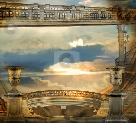 Ancient Architecture stock photo, Italian imagination collage surrealism collection of surreal by Desislava Draganova
