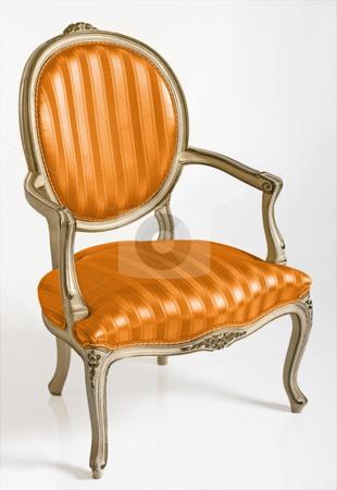 Orange Armchair stock photo, Orange armchair in style baroque by Desislava Draganova