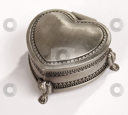 Silver Old Jewelry Box stock photo, Closed old jewelry box ?? by Desislava Draganova