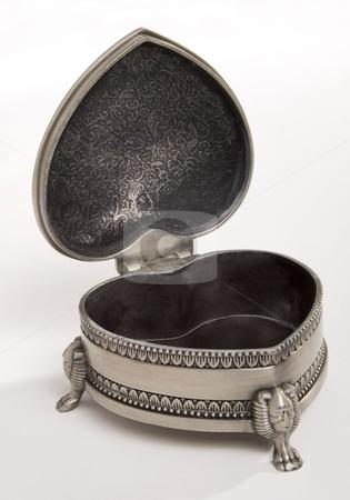 Old Jewelry Box stock photo, Open metal jewelry Box in retro style by Desislava Draganova