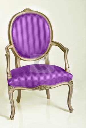 Purple Armchair stock photo, Purple armchair in retro style by Desislava Draganova