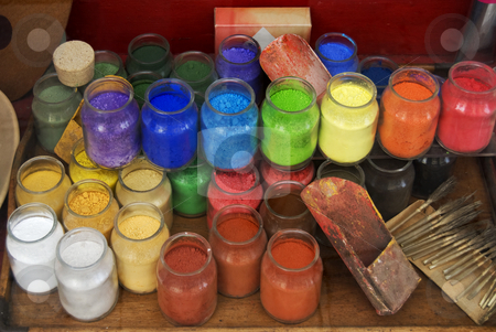Paint jars stock photo, Paint jars by Desislava Draganova