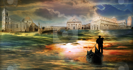 Italy stock photo, Italian imagination collage surrealism collection of surreal by Desislava Draganova