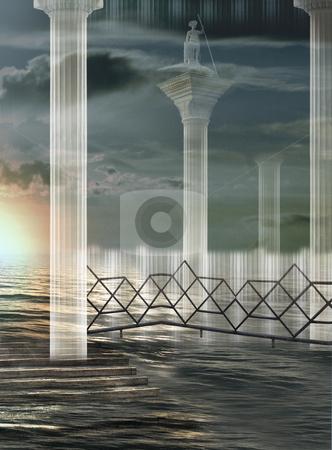 Atomic Rise stock photo, Italian imagination collage surrealism collection of surreal by Desislava Draganova