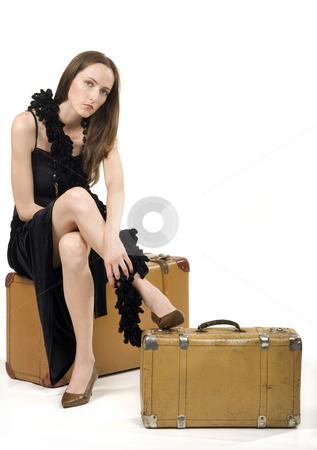 Retro Girl Travel stock photo, Retro Girl Travel by Desislava Draganova