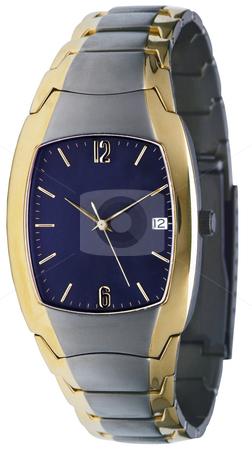Wristwatch stock photo, Blue fashion wristwatch by Desislava Draganova