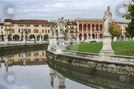 Padova stock photo, Landscape on Canal Public Square Padova in Italy by Desislava Draganova