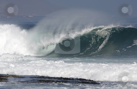 Heavy wave stock photo, Heavy wave breaking on Chile's Northern coast in Antofagasta by Philip Muller