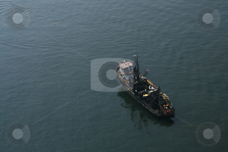 Single big fishing boat stock photo, Single big fishing boat in Arica, North of Chile by Philip Muller