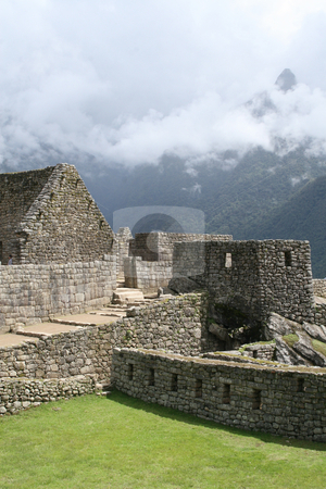 The Lost City of Machu Picchu stock photo, Residential sector of the lost City of Machu Picchu by Philip Muller