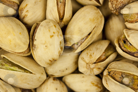 Pistachio Nuts stock photo, A close-up shot of pistachio nuts.  Great for a background or desktop. by Patrick Noonan