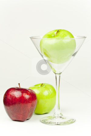 Apple Martini stock photo, A Martini glass with an apple inside by Patrick Noonan