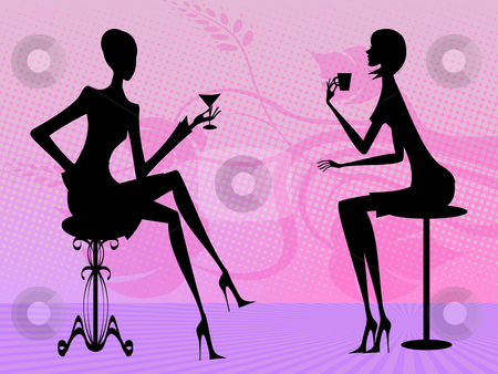 Conversation stock photo, Two women at conversation by Minka Ruskova-Stefanova