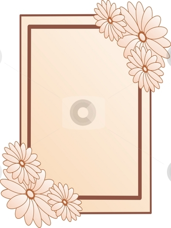 Frame with flowers stock photo, Frame with flowers by Minka Ruskova-Stefanova