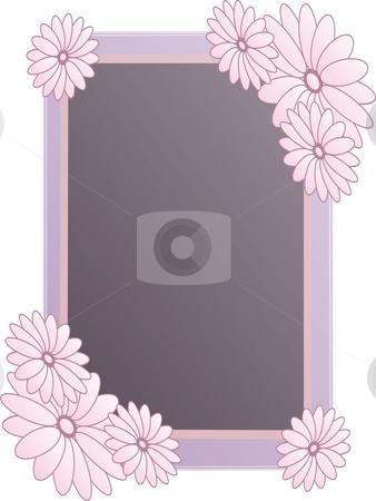 Frame with flowers stock photo, Frame with pink flowers by Minka Ruskova-Stefanova