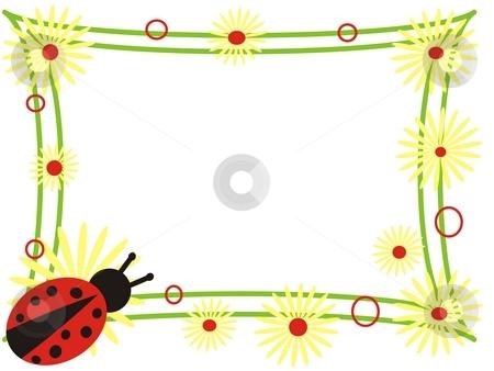 Ladybird frame stock photo, Ladybird frame by Minka Ruskova-Stefanova