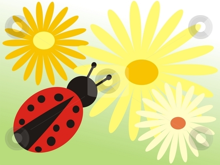 Ladybird stock photo, Ladybird in garden by Minka Ruskova-Stefanova