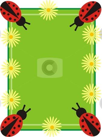 Ladybird frame stock photo, Frame with ladibirds by Minka Ruskova-Stefanova