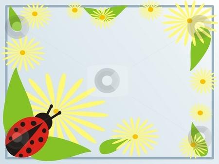 Ladybird on garden stock photo, Ladybug on garden frame by Minka Ruskova-Stefanova