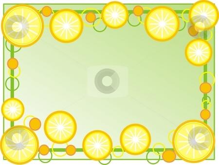 Oranges frame stock photo, Frame with oranges by Minka Ruskova-Stefanova