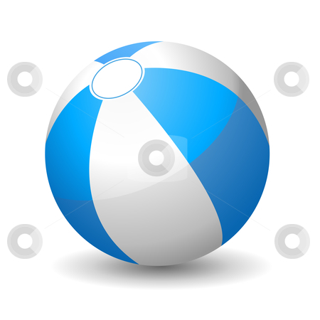 Beach ball stock vector clipart, Vector illustration of beach ball by Laurent Renault