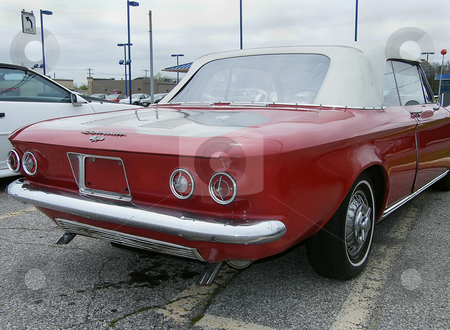 1964 Chevrolet Corvair stock photo, 1964 Chevrolet Corvair Monza 900 Convertible from rear passenger side, by Dazz Lee Photography