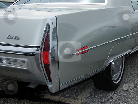 Old Cadillac stock photo, Old Cadillac, rear-side view. by Dazz Lee Photography