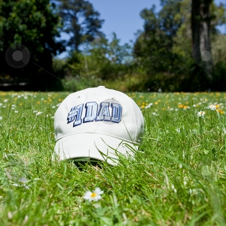 Father's day cap stock photo, Soft cap with a long, stiff bill that is curved with number one dad sign. by Mariusz Jurgielewicz