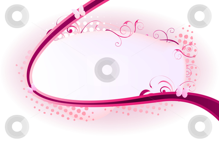 Frame Swirl stock vector clipart, Beautiful frame ornated with pink swirls and dots by Augusto Cabral Graphiste Rennes