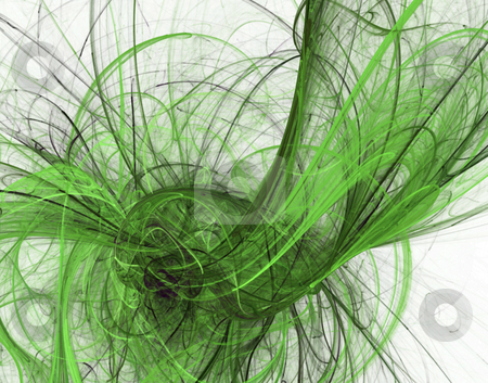 Green lines stock photo, Abstract background - green disorder lines - illustration by J?