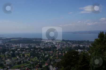View to Bregenz and Lake Constance stock photo, Blick auf Bregenz und Bodensee / View to Bregenz and Lake Constance by Thomas K?