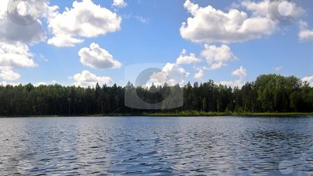 Lake scenery stock photo, Mustjarv (meaning