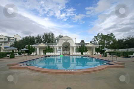 Swimming Pool stock photo, A Big Swimming Pool in Central Florida by Lucy Clark
