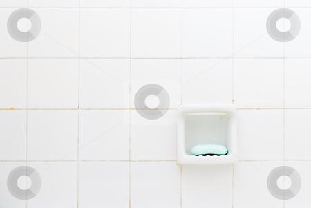 Green Soap, Old Bathroom (IMGP2578) stock photo, Green soap bar in an old bathroom. by Germán Ariel Berra