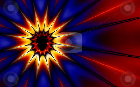 Pop Art Explosion (fractal30d) stock photo, Comic styled explosion (generated from a fractal design) by Germán Ariel Berra