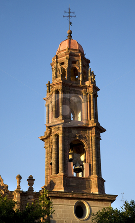 San Francisco Church Steeple Bells San Miguel Mexico stock photo, San Francisco Church Steeple, Bells, San Miguel de Allende, Mexico by William Perry